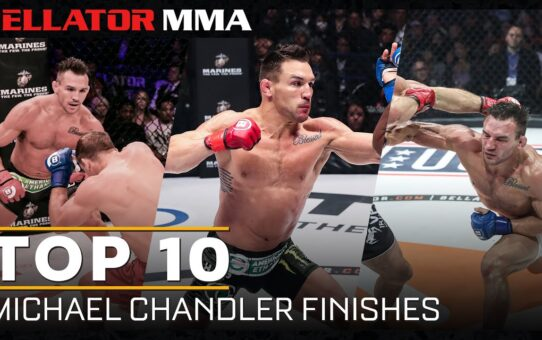 Top 10 Michael Chandler Finishes | Bellator MMA