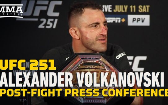 UFC 251: Alexander Volkanovski Post-Fight Press Conference – MMA Fighting