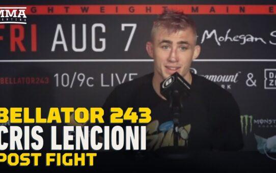 Bellator 243: Cris Lencioni Calls AJ Agazarm 'Sore Loser' and 'Cheater' – MMA Fighting