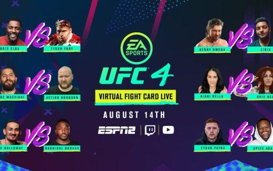EA SPORTS UFC Virtual Fight Card LIVE
