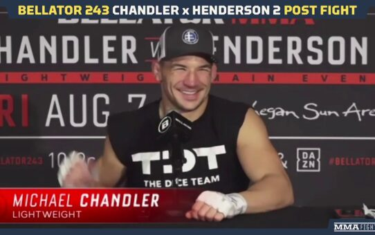 Bellator 243: Michael Chandler Will Make 'Best Decision Possible' on Bellator Future – MMA Fighting