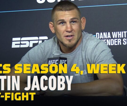 DWCS Season 4, Week 1: Dustin Jacoby Post-Fight Press Conference – MMA Fighting