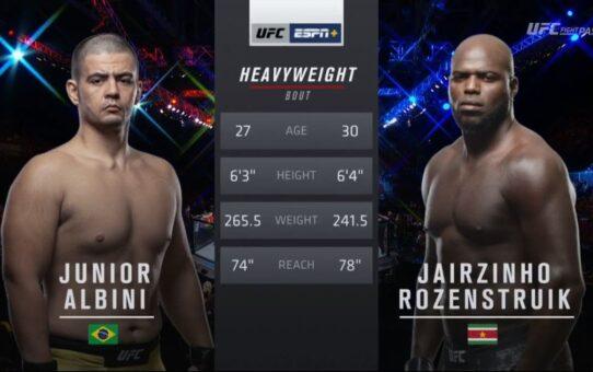 UFC 252 Free Fight: Jairzinho Rozenstruik vs Junior Albini