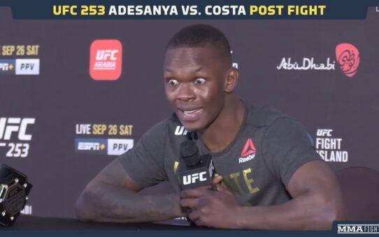 UFC 253: Israel Adesanya Press Conference, Reacts to Win over 'Dumb' Costa, Cornerman – MMA Fighting