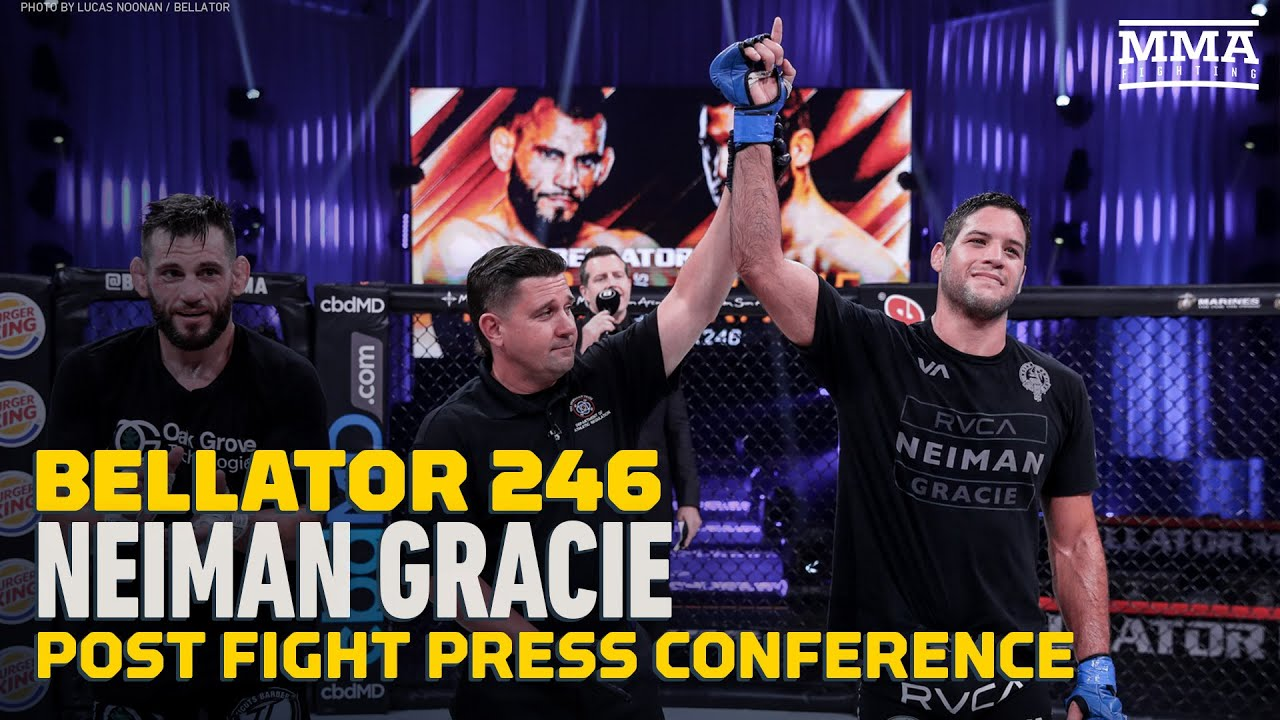 Bellator 246: Neiman Gracie Feels He's No. 1 Contender in Division Now - MMA Fighting