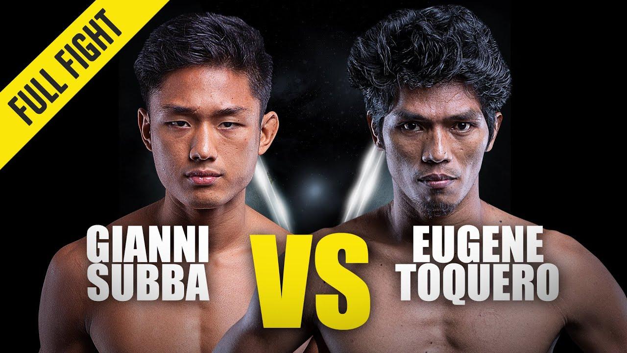 Eugene Toquero vs. Gianni Subba   ONE Championship Full Fight