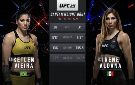 Fight Island Free Fight: Irene Aldana vs Ketlen Vieira