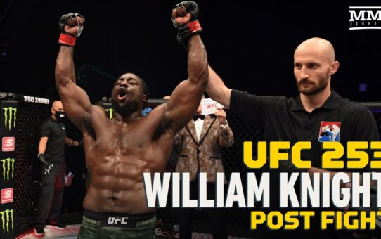 UFC 253: William Knight Says He Will Never Be Able To Silence Critics – MMA Fighting