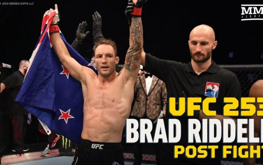 UFC 253: Brad Riddell Didn't Want To 'Waste Coaches Time' With 'Selfish' Slugfest- MMA Fighting