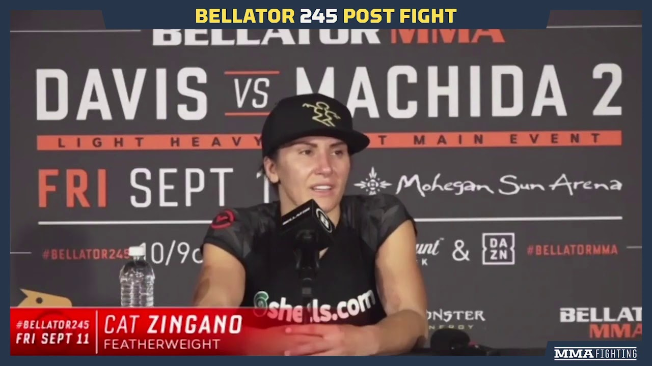Bellator 245: Cat Zingano Admits Promotional Debut 'Was A Terrifying Fight For Me' - MMA Fighting