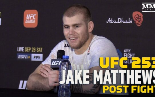 UFC 253: Jake Matthews Could Hear Stephan Bonnar Screaming Advice At Diego Sanchez – MMA Fighting