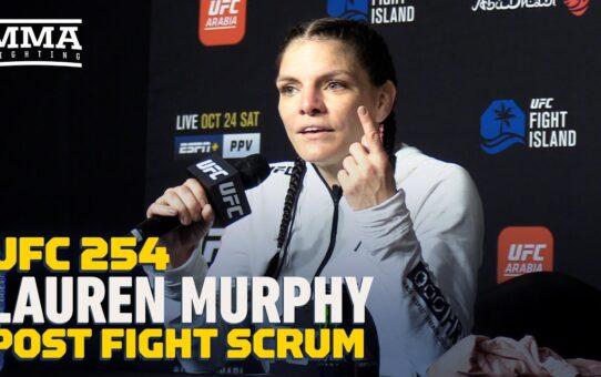 UFC 254: Lauren Murphy: It's 'Insane' I'm Only No. 5 At Flyweight: 'It's A Joke' – MMA Fighting
