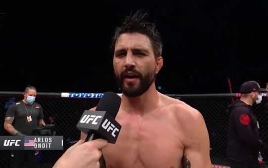 Fight Island 4: Carlos Condit Octagon Interview