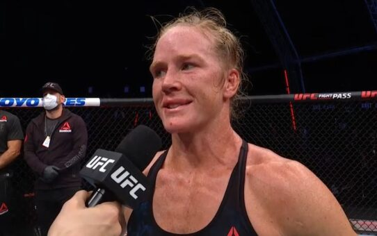 Fight Island 4: Holly Holm Octagon Interview