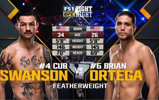Fight Island 6 Free Fight: Brian Ortega vs Cub Swanson
