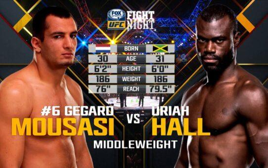 Free Fight: Uriah Hall vs Gegard Mousasi 1