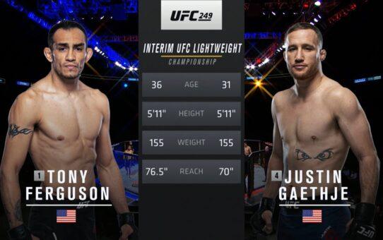 UFC 254 Free Fight: Justin Gaethje vs Tony Ferguson