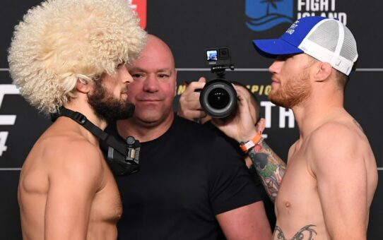 UFC 254: Weigh-in Faceoffs