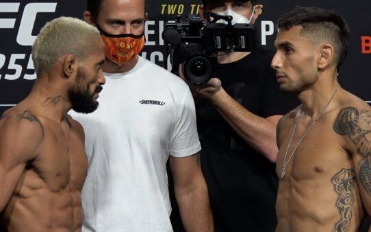 UFC 255: Deiveson Figueiredo vs. Alex Perez Weigh-In Staredown – MMA Fighting