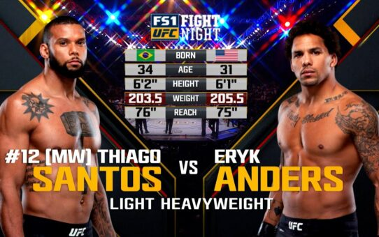 Free Fight: Thiago Santos vs Eryk Anders