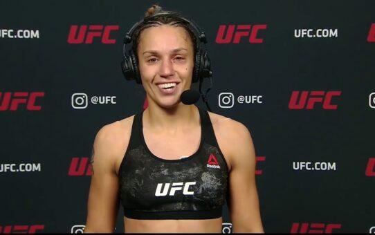 UFC 255: Antonina Shevchenko Interview after TKO Win