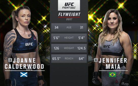 UFC 255 Free Fight: Jennifer Maia vs Joanne Calderwood