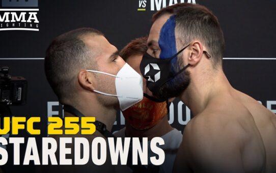 UFC 255 Weigh-In Staredowns – MMA Fighting