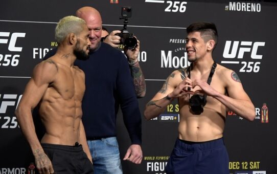 UFC 256: Deiveson Figueiredo vs. Brandon Moreno Weigh-In Staredown – MMA Fighting