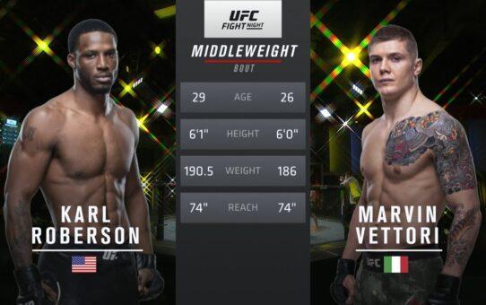 Free Fight: Marvin Vettori vs Karl Roberson