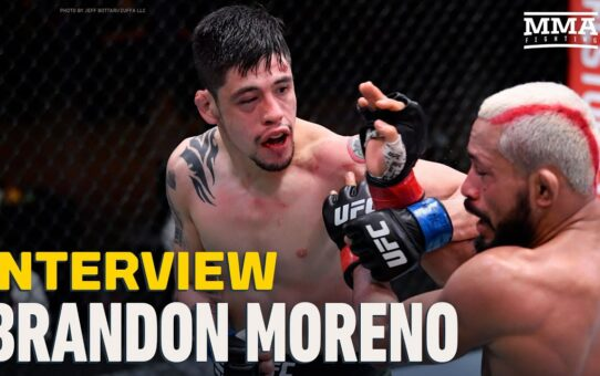 Brandon Moreno Recaps UFC 256 Classic, Believes Figueiredo 'Making Excuses' With Stomach Issues
