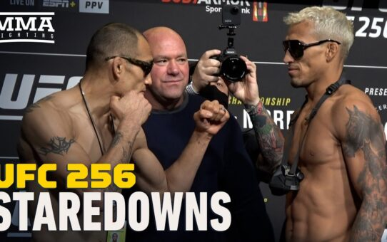UFC 256 Weigh-In Staredowns – MMA Fighting