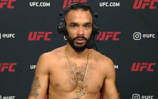UFC Vegas 17: Rob Font Interview After TKO in First Round