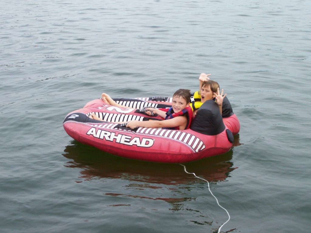 Tubing on Norfork Lake is so cool!!