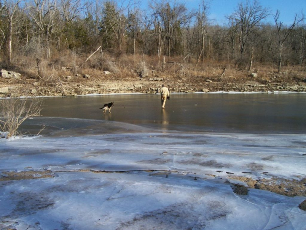 The cove doesn't ice over very often.