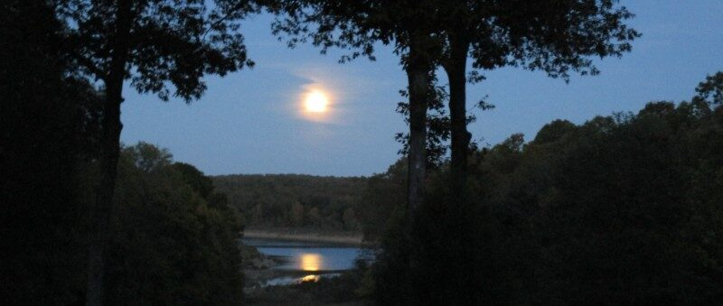 Moon rise over the cove