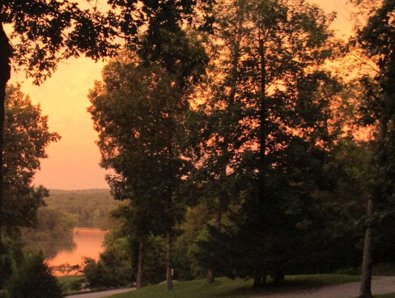 Orange sunrise over the cove
