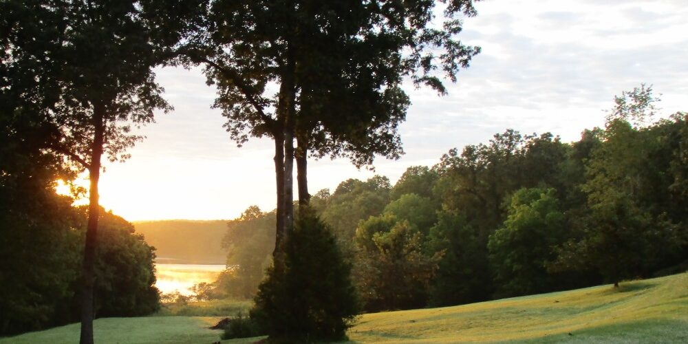 Sunrise over Norfork Lake cove