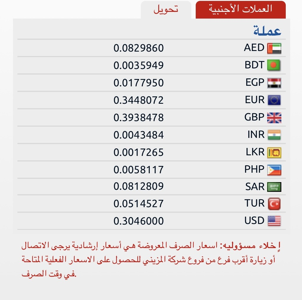 صرافة المزيني سعر تحويل  العملات و الجنية المصرى اليوم الى جميع البنوك المصرية  الجمعة 17 مايو