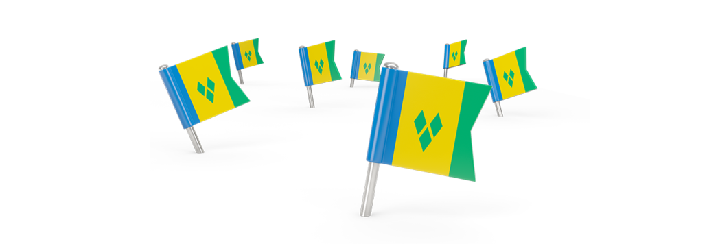 Mini SVG flags on white background
