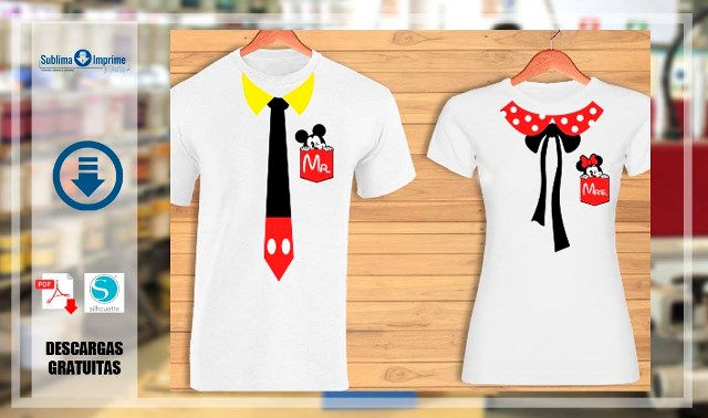 VECTORES DE MICKEY Y MINNIE