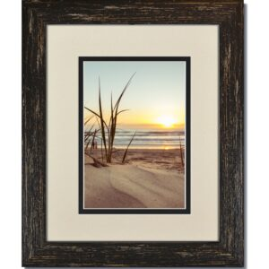 Rustic Black Frame & Warm White/Black