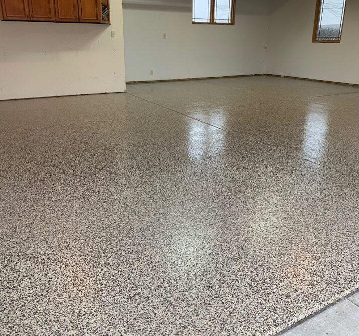 Cordwood Color – Garage Floor Installation in Weatherford TX