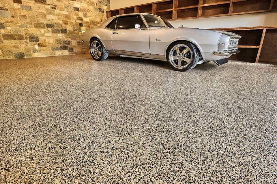 Beautiful Cars on a Newly Installed Garage Floor