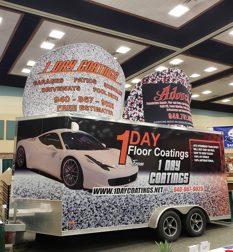 We bring a lot of creatively and visually impressive displays to our vendor showcases! It's our opportunity to show off our product and catch the eye of passerby's. Our floors can be installed in all types of home, office or commercial applications - therefore, everyone is a potential client and we want to tell everyone how great these floors are!