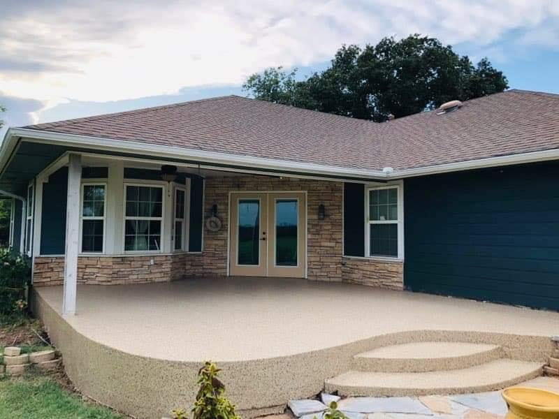 Converting a Stamped Concrete Surface to a Polyurea Coating
