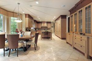 kitchen after tile installation