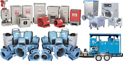 Equipment used in water damage repair