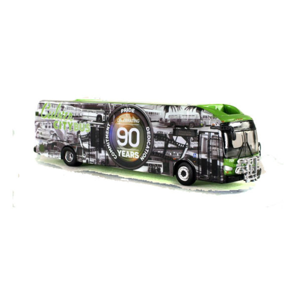 1:87 New Flyer xcelsior CNG w/Bike Rack: Culver City 90th Anniversary (87-0155)