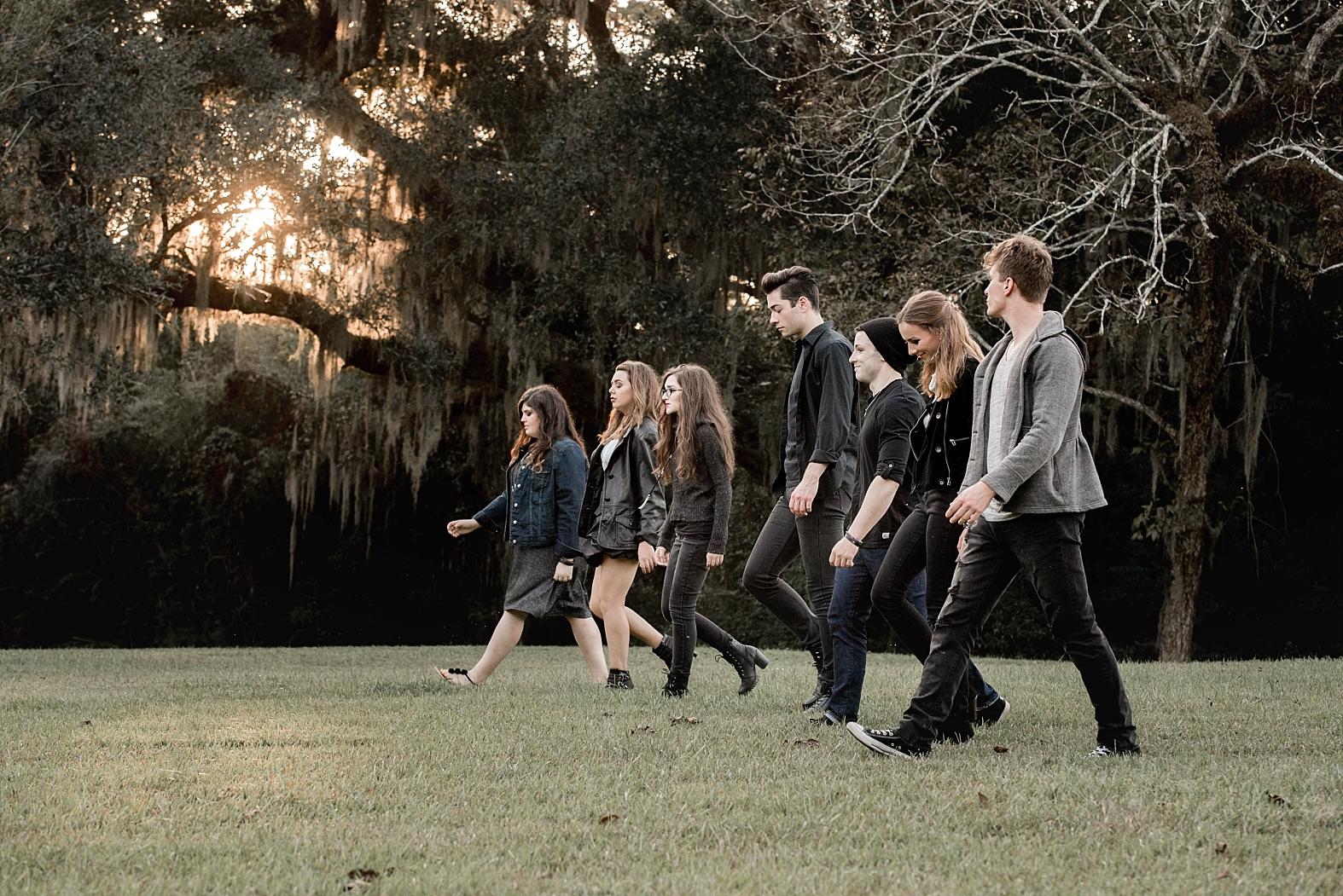 Teens in a Vampire Movie Themed Photo Shoot