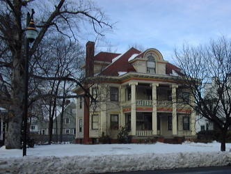 Reformed Sinai Temple's first home, In the mansion at 188 Sumner Ave.